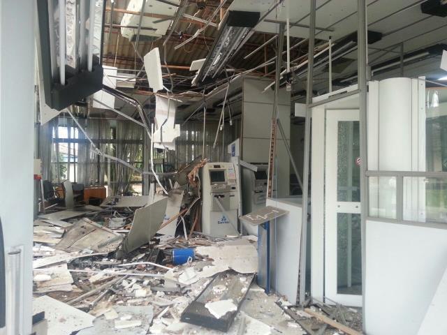 Os prejuízos das comunidades que têm bancos atacados com explosivos   Por Dilmar Isidoro