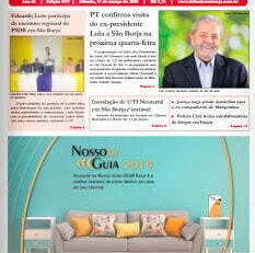 Campanha antecipada de Lula continuará amanhã, desta vez em São Borja | Por Polibio Braga