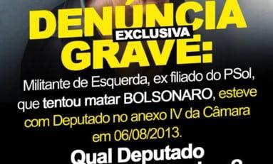 Agressor, militante de esquerda, ex-filiado do Psol, esteve com deputados na Câmara | Por Polibio Braga