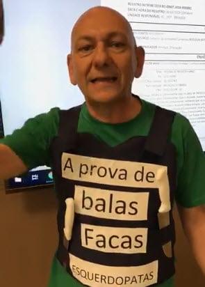 Aqui o vídeo. Ativista lulopetista tentou esfaquear Luciano Hang, dono da Havan | Por Polibio Braga
