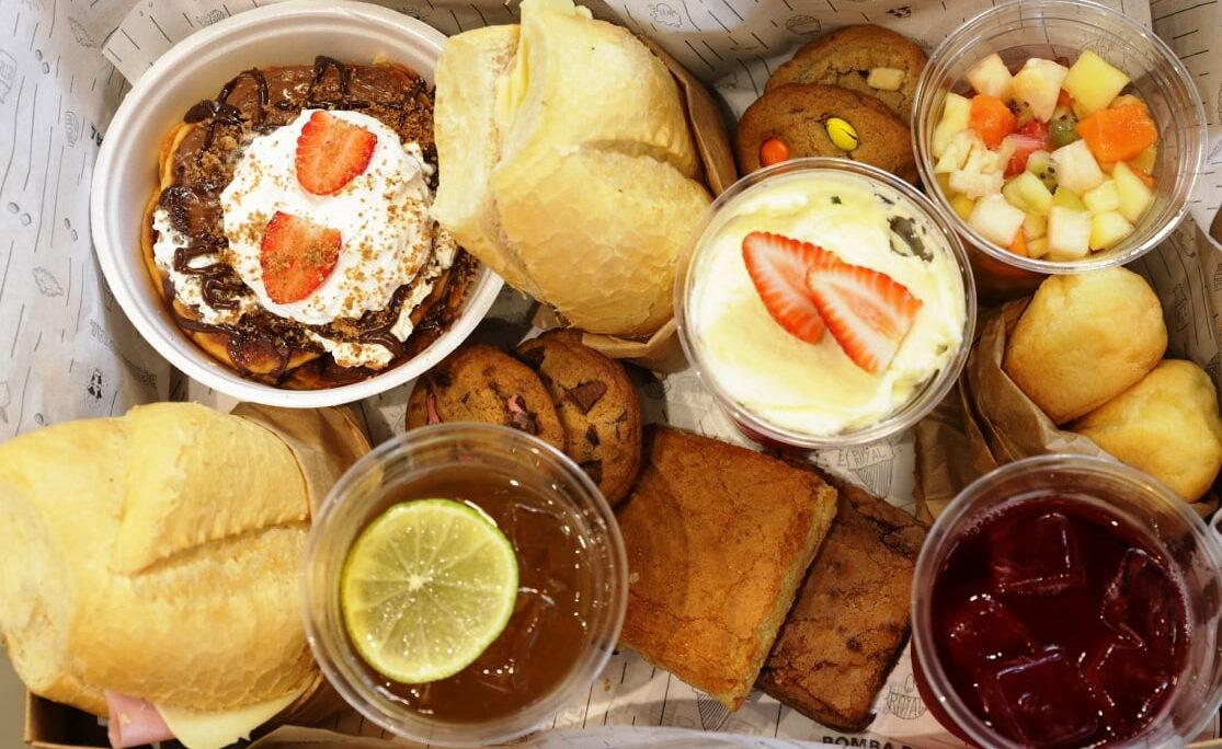 Bomba Royal oferece delivery de brunch com delícias para café da manhã e tarde