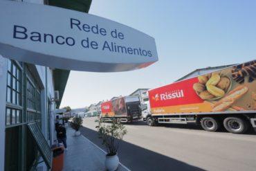 Rede de Bancos de Alimentos do RS recebe doações