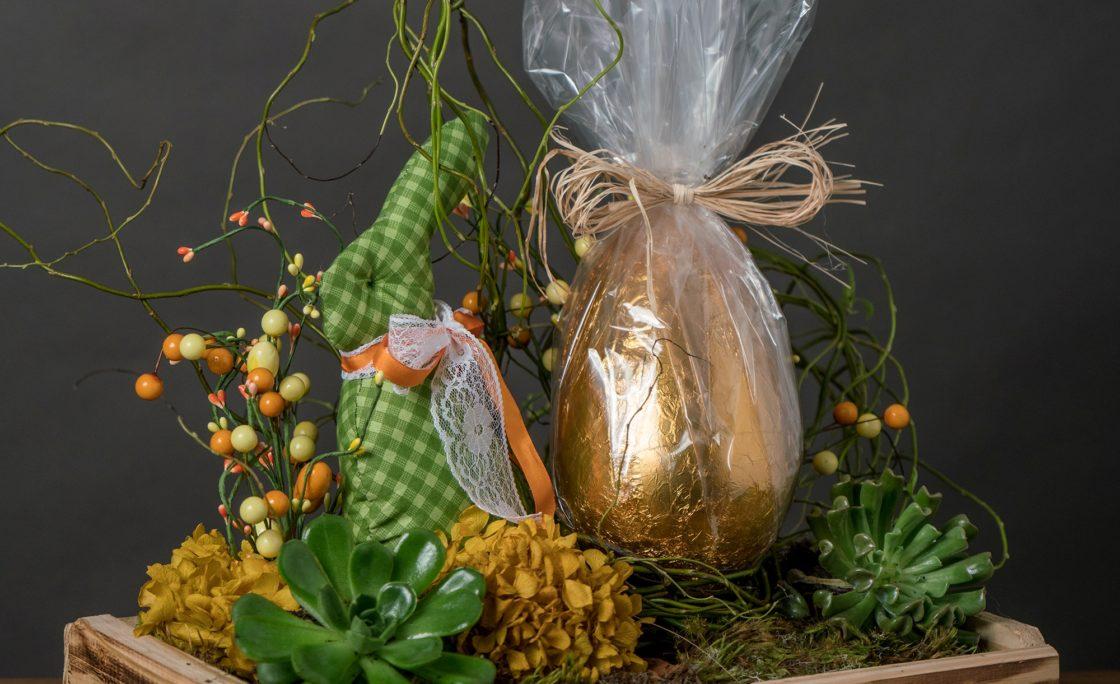 Arranjos de presente para a Páscoa
